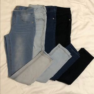 Justice jeggings and jeans (size 14)